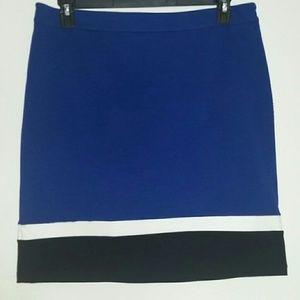 Royal blue mini skirt 14 Rafaella